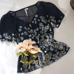 Sheer Floral Top | Lauren Conrad